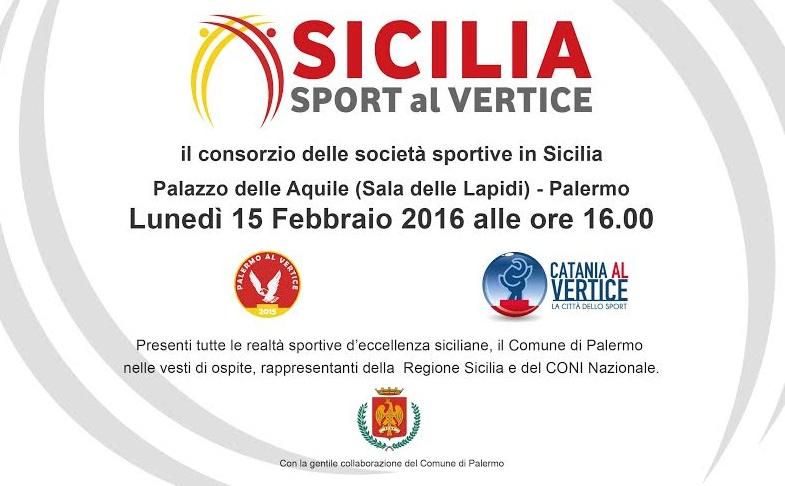 """Il 15 febbraio la presentazione di """"Sicilia Sport al Vertice"""""""