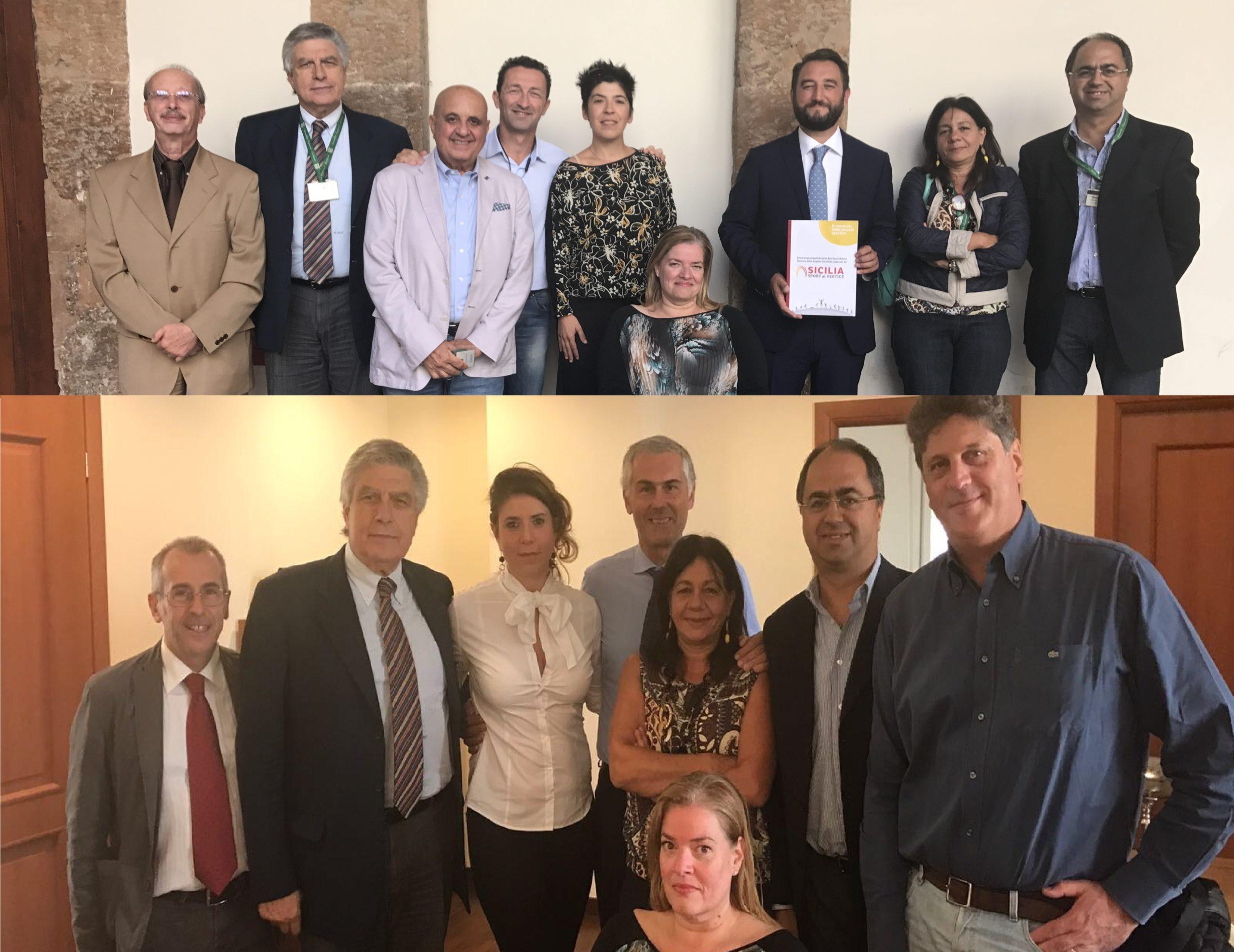 Il Consorzio Sicilia Sport al Vertice incontra i candidati alla Presidenza della Regione