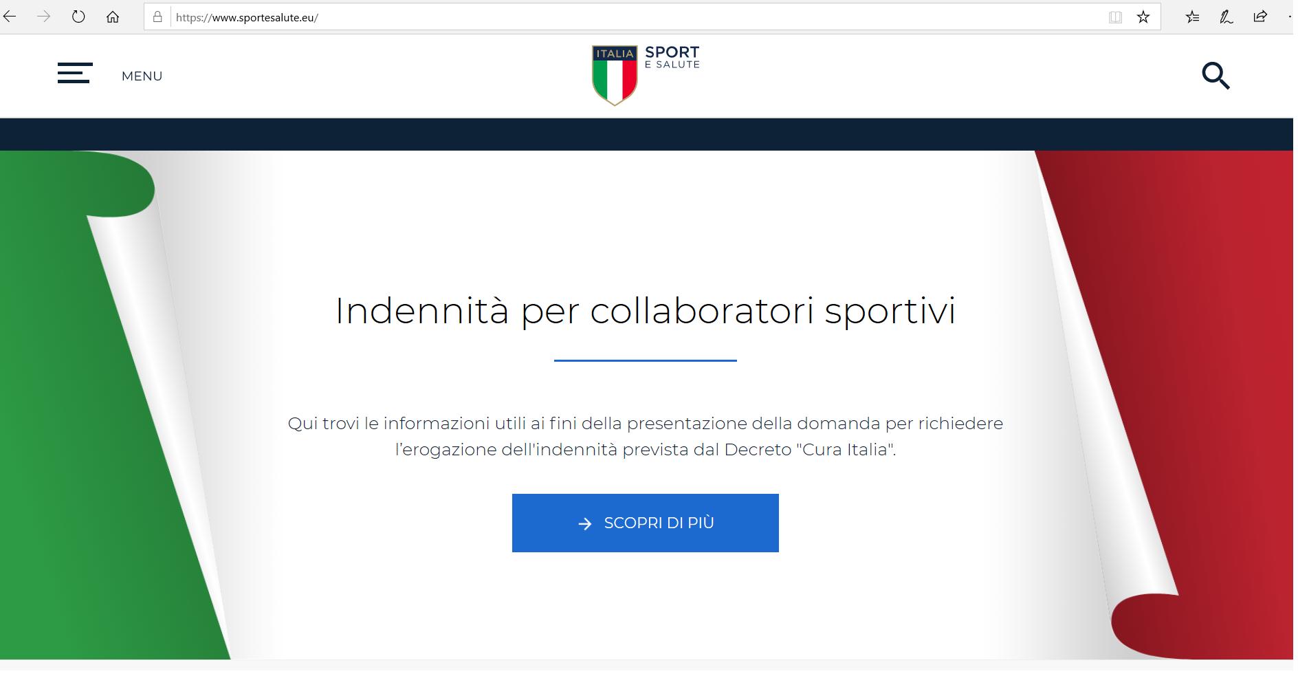 Cura Italia: dal 7 aprile le richieste per i collaboratori sportivi