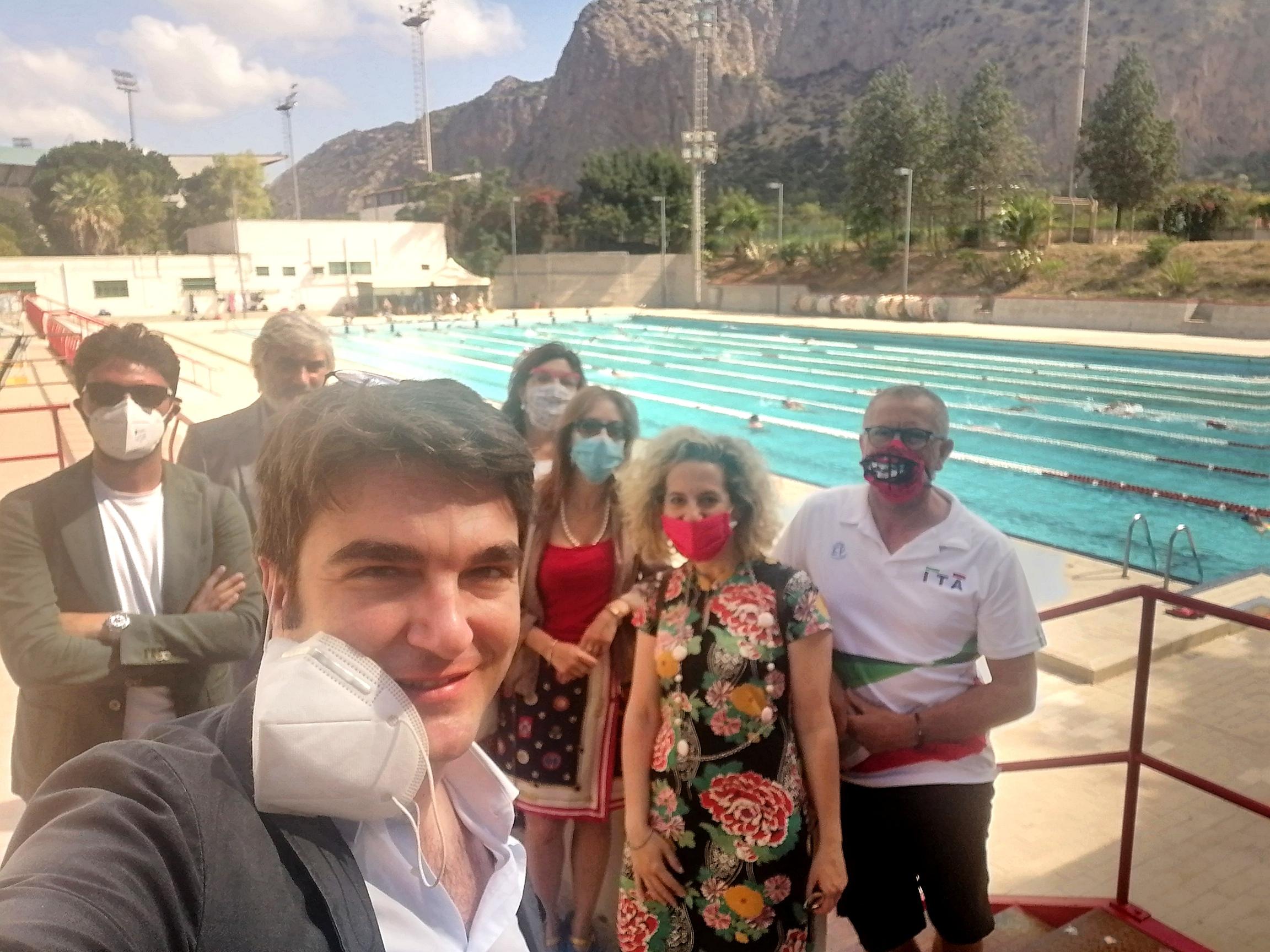 Impianti sportivi: sopralluogo della V Commissione Consiliare e dell'assessore allo Sport alla Piscina Olimpica e allo Stadio delle Palme